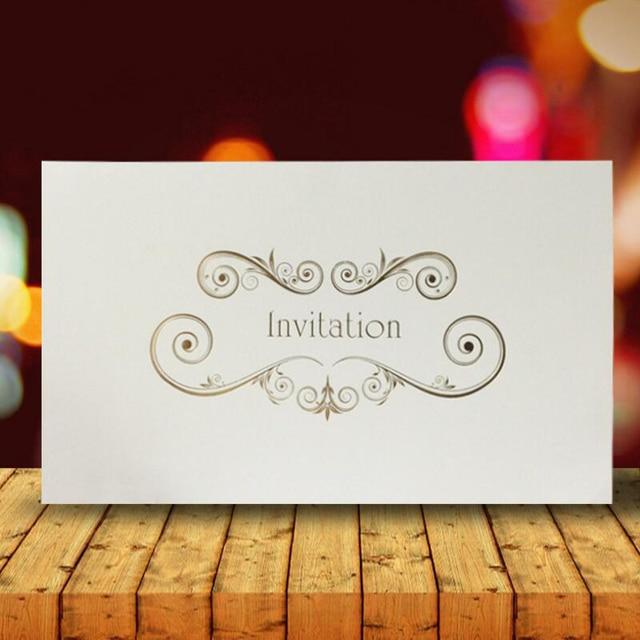 30pcs lot high end business invitations simple folding paper wedding