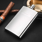 Hip Flask 5.5 OZ Gadgets for Men Pocket Flask 304 Stainless Steel Snake Print Canteen Whiskey Vodka Alcohol Bottle with Gift Box
