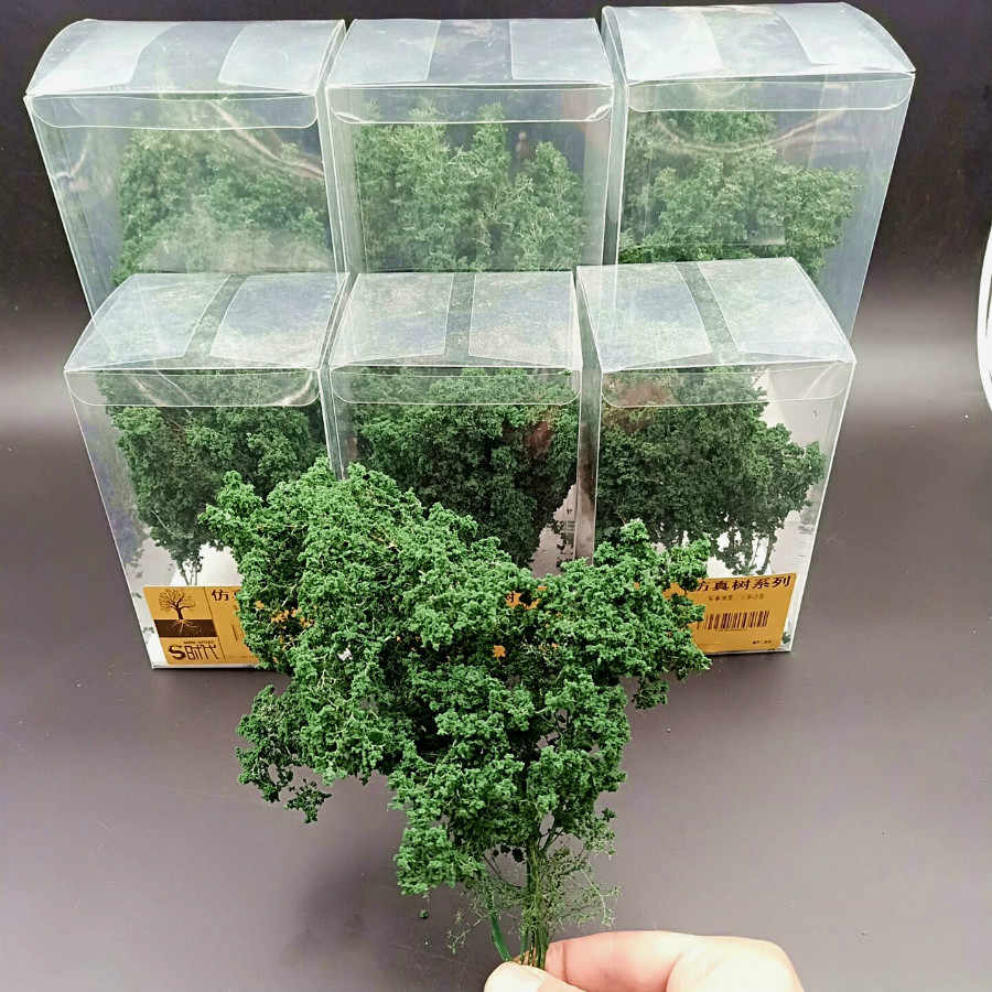 Architecture Scale Model Miniature Bushes Tree For Ho Train