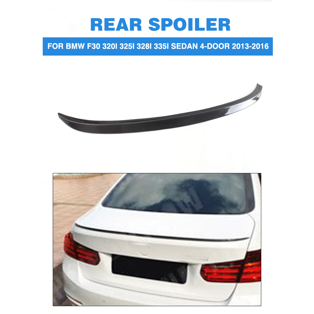 Carbon Fiber Rear Trunk Boot Lip Spoiler Wing For BMW 3 Series F30 320i 325i 328i 335i Sedan 4-Door 2013-2016 s3 style for audi a3 sedan carbon fiber rear trunk spoiler wing 2014 2015 2016