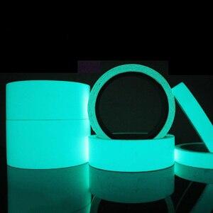 Image 3 - 5M 발광 빛나는 테이프 경고 줄무늬 어두운 비상 라인에 빛나는 비닐 벽 스티커 형광 빛나는 스트립 스티커 B