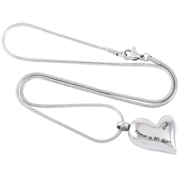 Silver Forever in My Heart Urn Necklace
