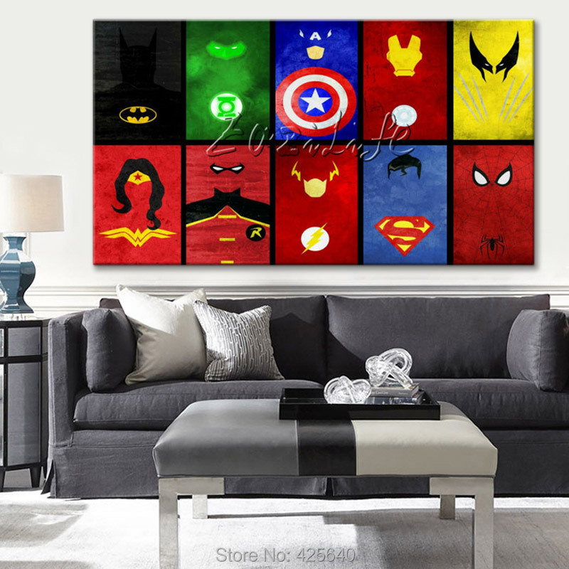 ... Avengers Painting Super Heroes Canvas Posters HD HOME WALL Decor ART  Wallpaper Spray From Reliable Wallpaper Bathroom Suppliers On Eazilife Oil  Painting