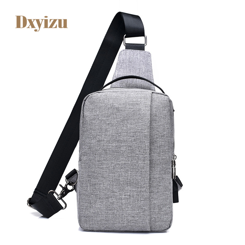 Fashion Casual Nylon Bags Women Shoulder Bags External USB Charge Messenger Bag Men Canvas High-Quality Crossbody bags for women
