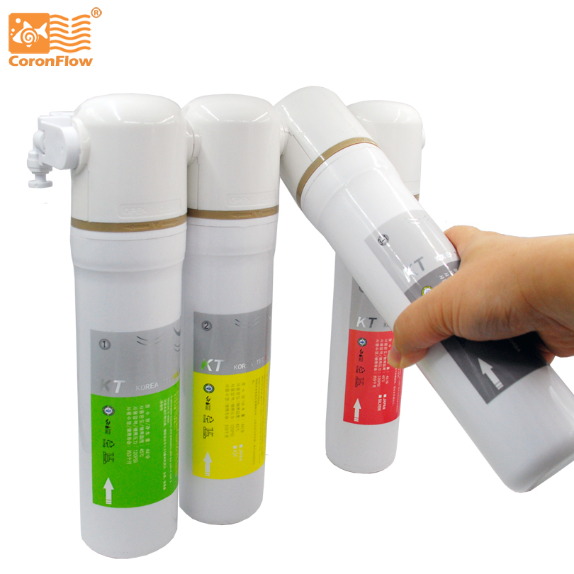 Coronwater Kitchen Water Filter Ultrafiltration System 4 Stage Quick Change Undersink Drinking Water Filter for household IU-4 high quality 3 stage undersink ion exchange resin drinking water filtration remove calcium and magnesium 1 4 quick connector