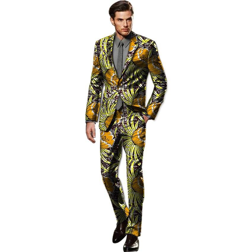 Costume pentru barbati africani blocheaza printuri dashiki blazers & - Imbracaminte barbati