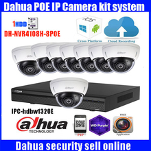 Original English Dahua 8ch 4K waterproof IPC HDBW1320E 3MP dome POE onvif IP camera kit with