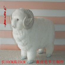 artificial animal about 30x25 cm cute white goat toy fur&polyethylene sheep model toy home ornament,Christmas gift g9541
