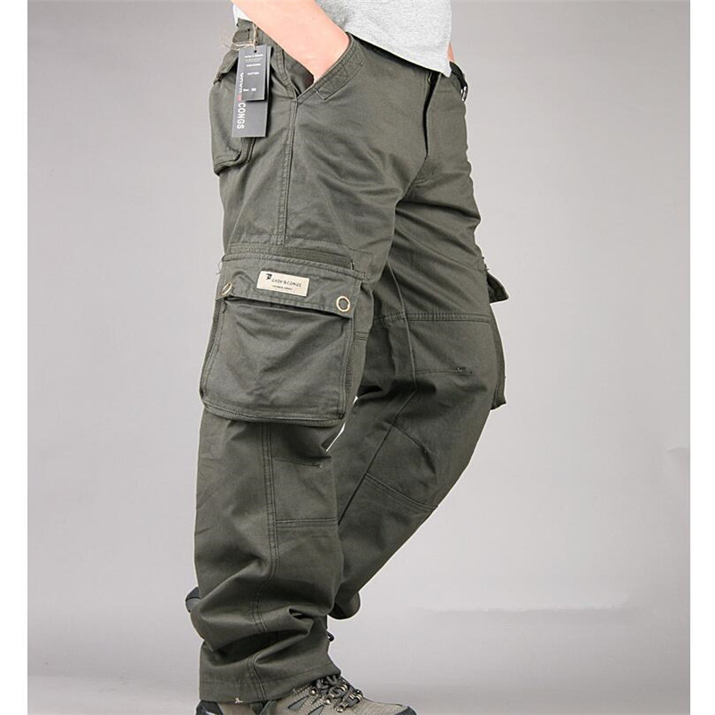 New Mens Tactical Cargo Pants Men Camouflage Overalls Clothes Loose Baggy Trousers Army Militar Pants
