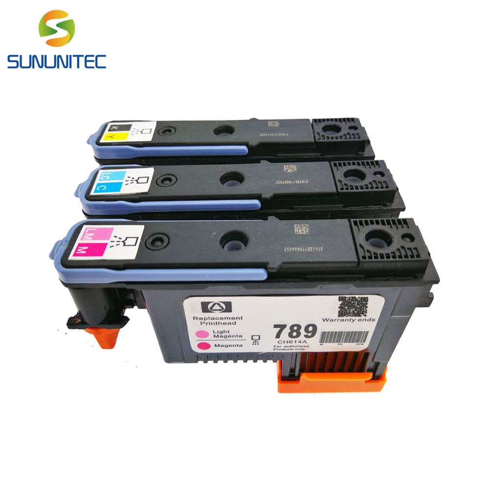 3PCS 789 printhead CH612A CH613A CH614A printer head printhead for HP Designjet L25500 25500 1x 789 printhead yellow black for hp 789 l25500 printer head ch612a