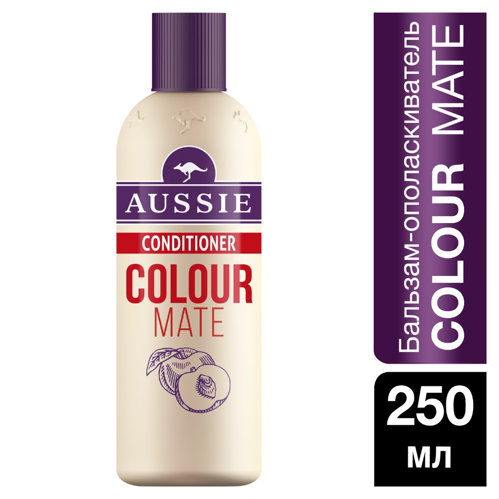 AUSSIE Color Mate balm rinse for colored hair 250ml vogue synthetic long slightly curled fluffy side parting mixed color hair wig for women