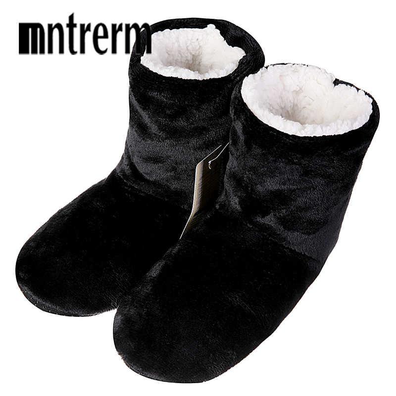 Mntrerm Novos Homens Chinelos Em Casa de Inverno Chinelos De Pelúcia botas Moda Sapatos Chinelos Em Casa Quente Sapatos Homens Outono Tamanho Grande Quente venda