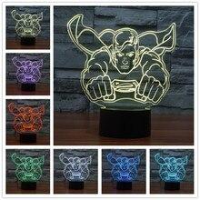 3D USB LED table lamp illusion Night Light