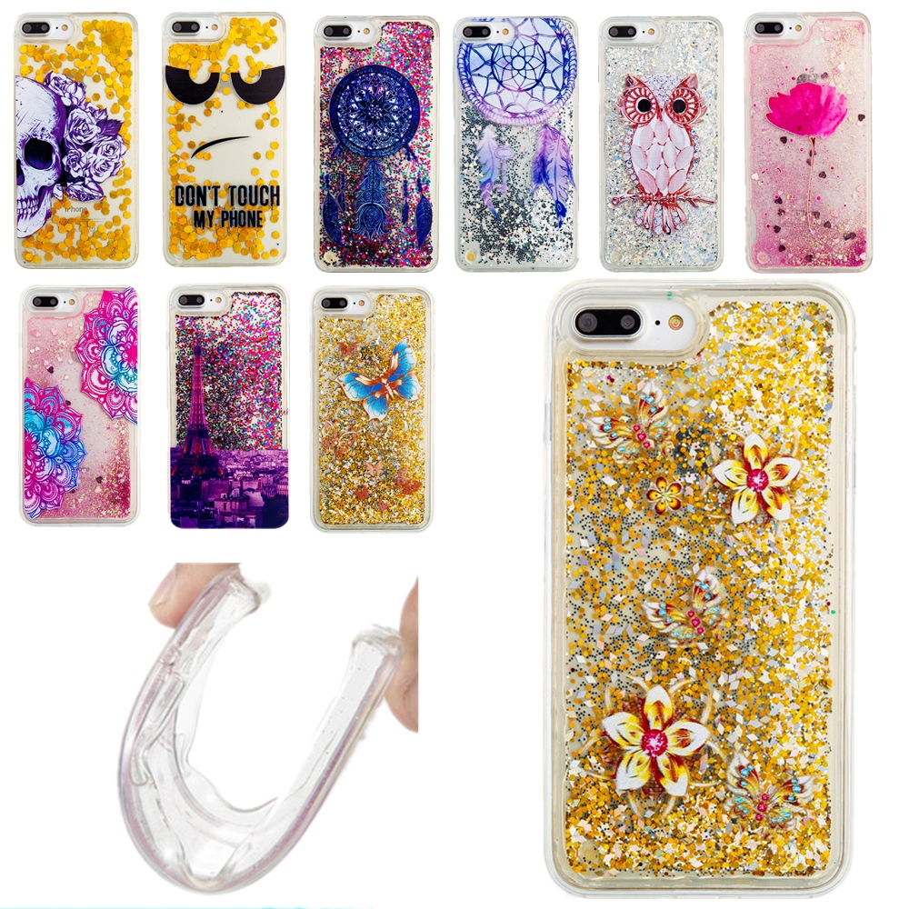 Dynamic Liquid Glitter Star Case For ipod Touch 5 6 Paillette Quicksand Water Cover For iPhone 4 4S SE 5 5S 5C 6 6S 7 Plus