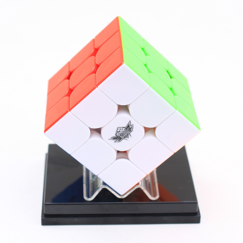 Cyclone Boys Feijue 3x3 Magnetic Version Magic Cube Stickerless Speed Cube Puzzle Toy Colorful Non Sticker Speed Cube  3x3x3