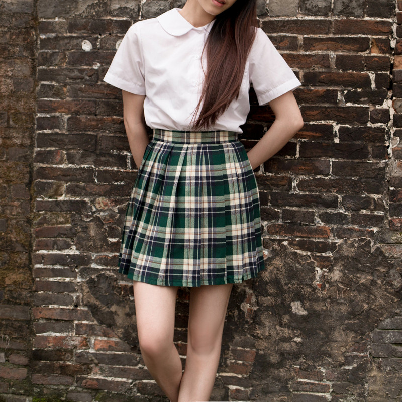 Popular School Girl Plaid Skirts-Buy Cheap School Girl Plaid ...