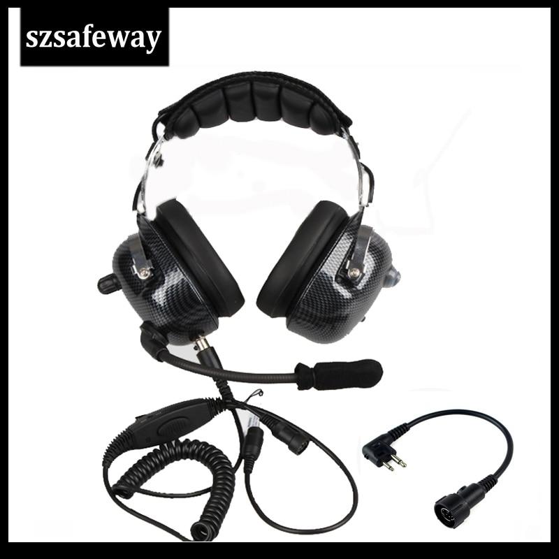 2019 NEW Quality heavy duty Walkie talkie headphone noise cancelling headset for Motorola EP450 GP300 GP88