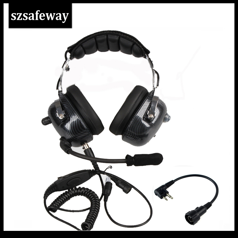 NEW Quality Walkie Talkie Headphone Noise Cancelling Headset For Motorola EP450 GP300 GP88 CP040