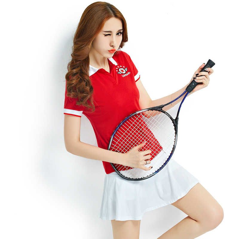 Brief Solid Women Tennis Suits Badminton Sportswear Female Short Sleeves Cute Outfit T shirt ...