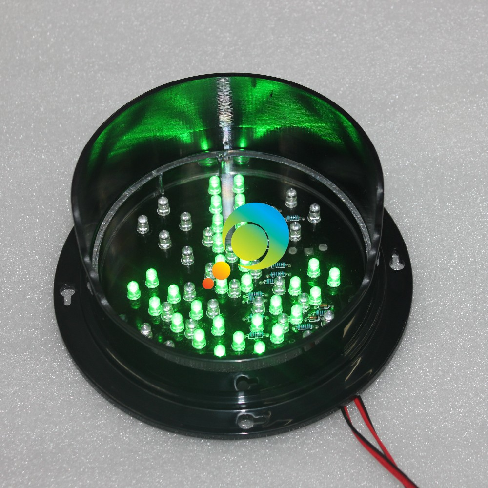 DC24V Customized Mould 125mm Bi Color Red Cross Green Arrow Traffic Signa Lamp LED Traffic Replacement