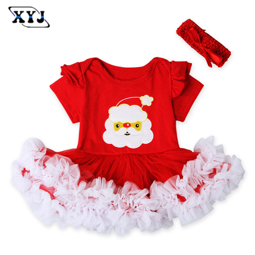2016 Baby Christmas Rompers For Girls Infant Clothing