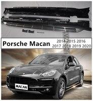 Auto placas de corrida barra passo lateral pedais para porsche macan 2014 2015 2016 2017 2018 2019 2020 alta qualidade acessórios do carro