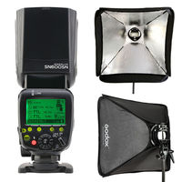 Shanny SN600SN TTL Master HSS Flash Speedlight GN60 for Nikon D7100 D750 D800 + GODOX 60x60 S type Speedlite Bracket softbox