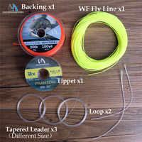 Maximumcatch 100FT 1-10wt Linea di Pesca A Mosca Combo Peso In Avanti Floating Fly Line e linea di Supporto & Tippet e Leader & loop Connettore