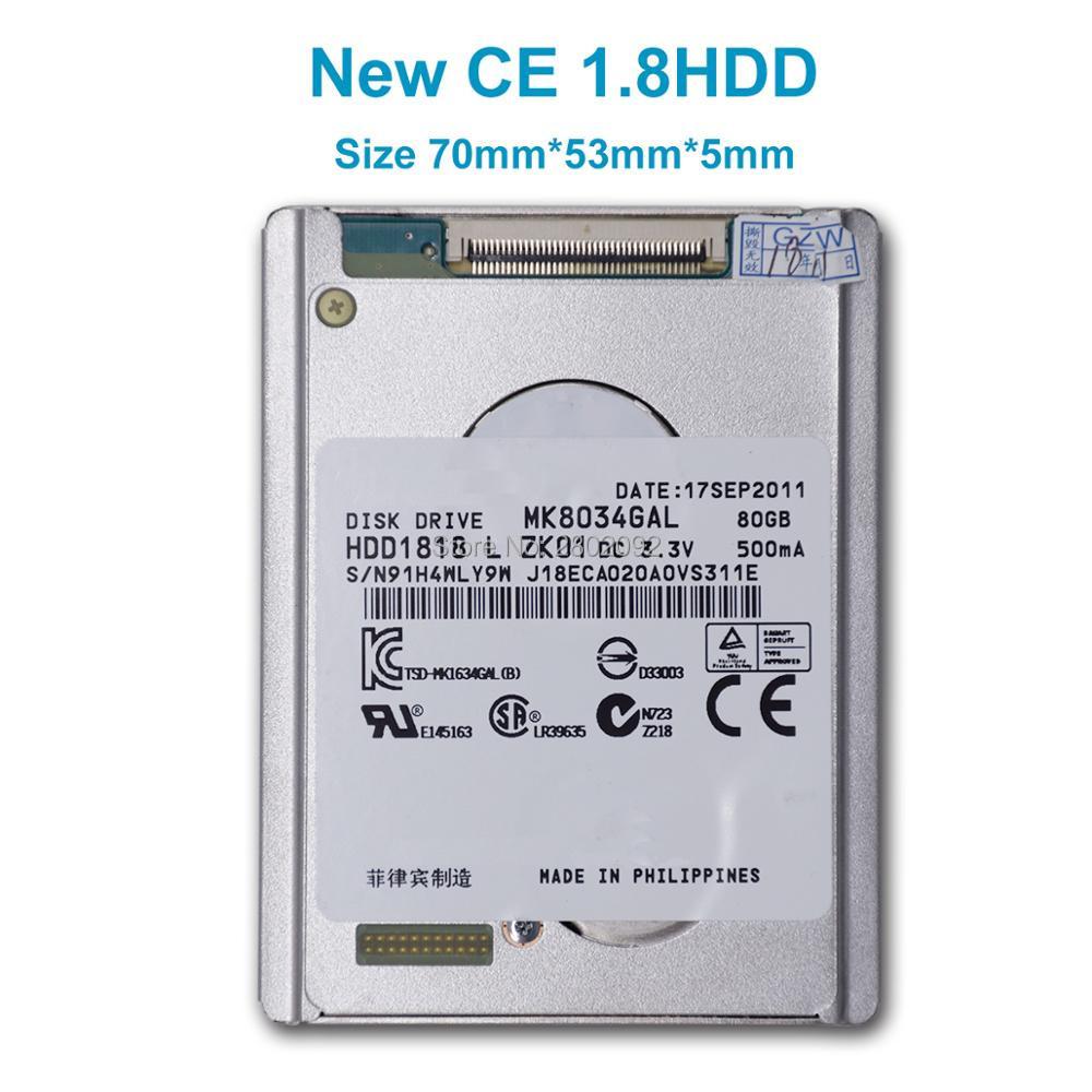 new mk8034gal 1 8 ce 80GB HDD FOR sony dv camera xr150e sr68e sr85e xr100e JVC