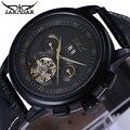 Marca de moda de Lujo De Cuero JARAGAR Tourbillon Reloj Automático de Los Hombres Reloj de Pulsera Relojes de Los Hombres Mecánicos Del Reloj del relogio masculino