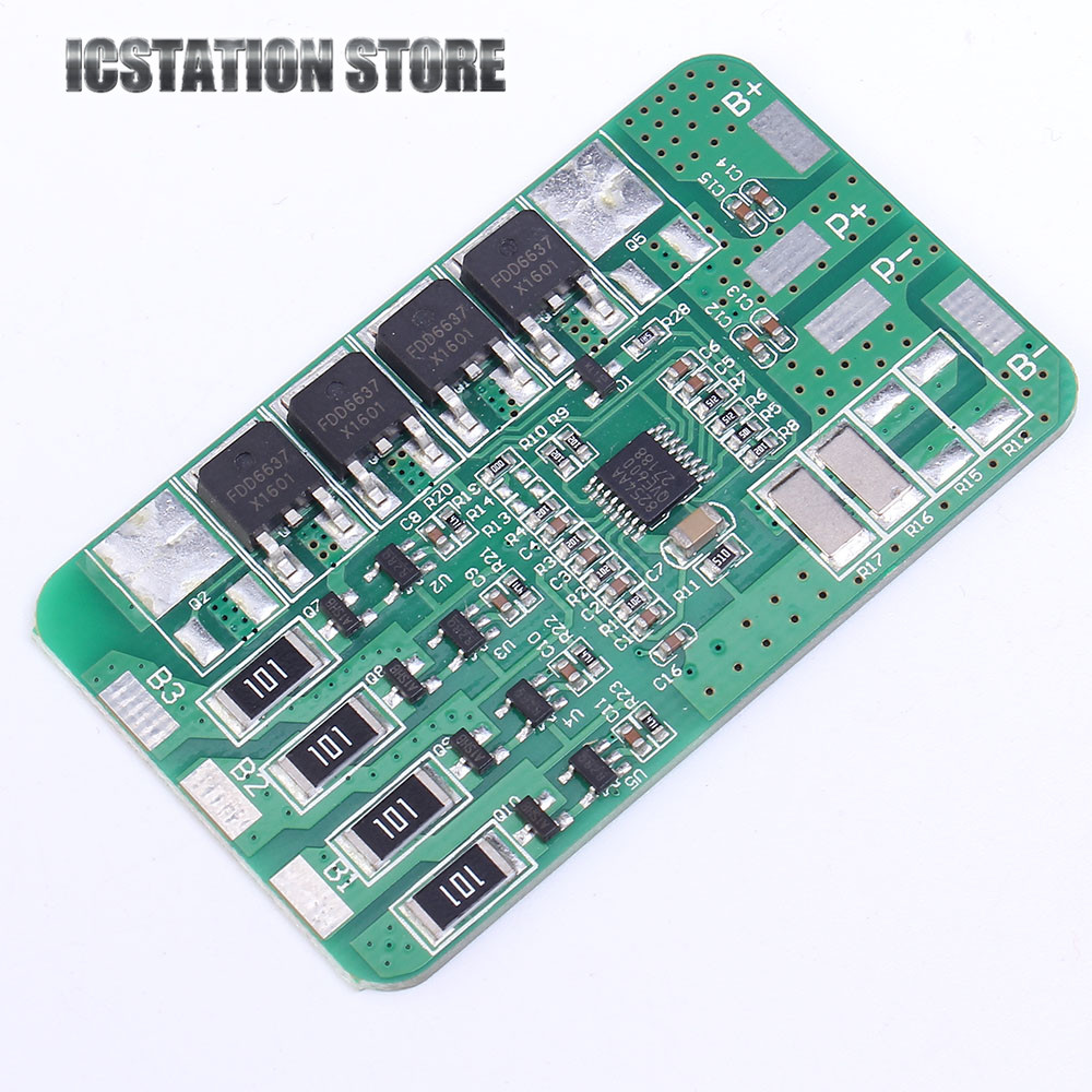 4S 12.8V 12A Lithium Iron Phosphate Battery Charging Protection Board PCB Equalized Charging with Balancing 5pcs 1s 3 2v 18650 li ion lithium iron phosphate battery protection board 2a with overcharge overdischarge protection