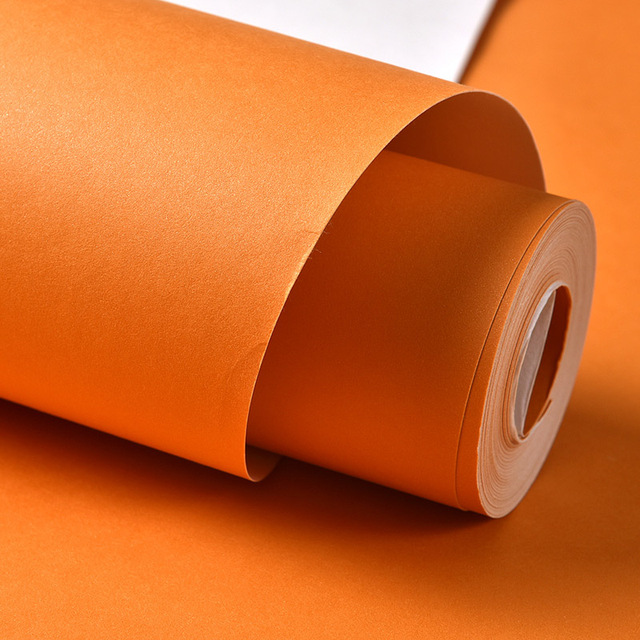 Beibehang Solid Pure Color Green Orange Background Wall Paper Roll Papel De Parede 3D Embossed Wallpaper