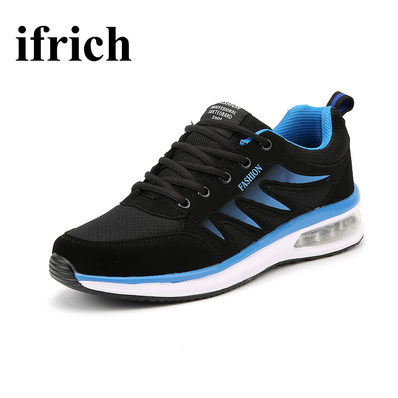 2017 Mens Sneakers Shoes Big Size Mens <font><b>Sports</b></font> Shoes Blue/<font><b>Black</b></font> <font><b>Running</b></font> Trainers Mens <font><b>Shock</b></font> <font><b>Absorbing</b></font> Mans <font><b>Sport</b></font> Shoes