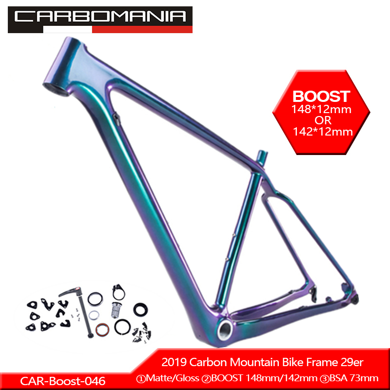2019 Carbon Bicycle Frame 29er Boost 12*148mm Mountain Bike Frame Carbon Bicicletas Mountain Bike 29inch Carbon MTB Frame BSA