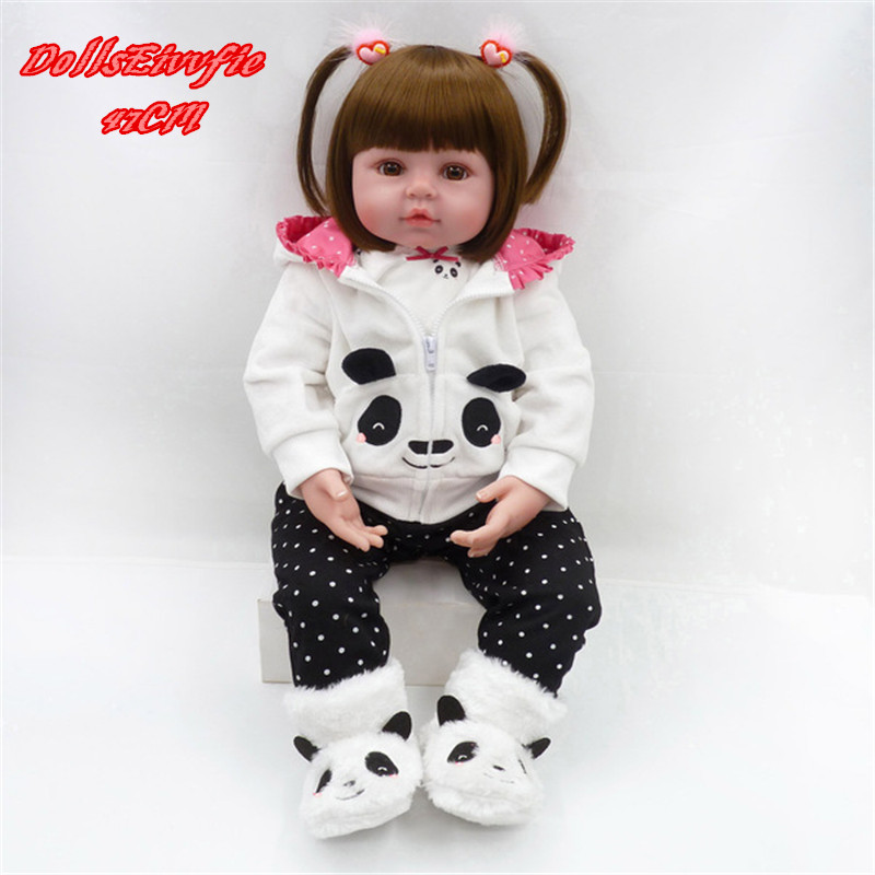 Bebe Reborn Baby 47cm Silicone Dolls Baby Alive Realistic Boneca Bebe lol Lifelike Real Menina Girl