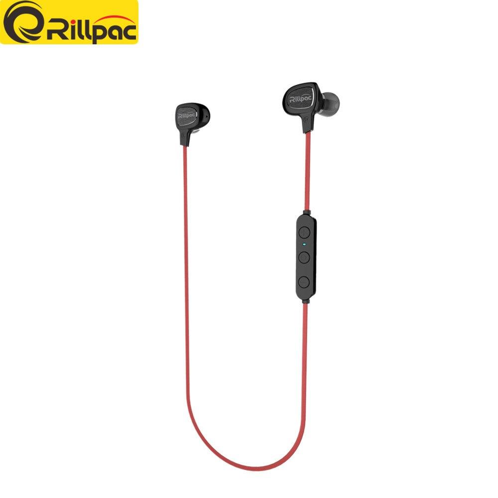 Rillpac BT10 Wireless V4.1 Bluetooth sluchátka Originální sluchátka s mikrofonem pro mobilní telefony Bluetooth sluchátka