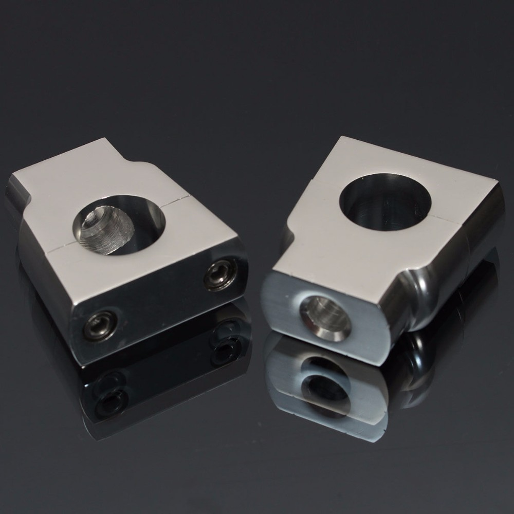 22mm CNC Motorcycle Handle Bar Mount Risers Clamp Aluminium For ATV 4