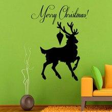 Merry Christmas Wall Decals Deer Vinyl Sticker Home Decor Art Nursery Room  decor in the bedroom