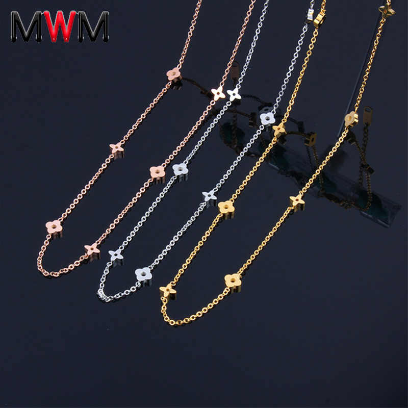 MWM stainless steel chain collier chocker long necklaces & pendants women's clothing accessories bijoux indian jewelry