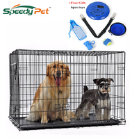 Products For Animals Pet Dog Iron Crate Double Door Pet Kennel Collapsible Easy Install Fit Your Pets 4 Sizes Pet House