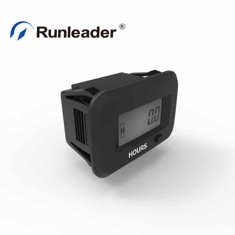 Runleader Digital Hour Meter for Lawn Mower Generator Motocycle Farm Tractor Marine Compressor ATV outboards Chainsaw and other AC//DC Power Devices