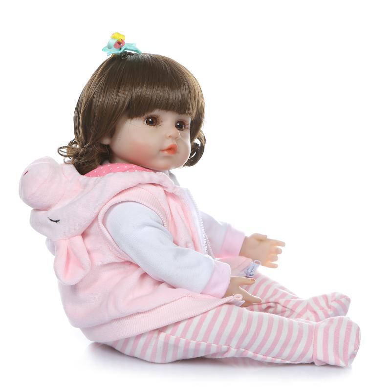 48 cm réaliste Reborn bébés doux Silicone bébé poupées lol reborn bambin réaliste nouveau-né bébé poupée pour enfant cadeau de noël - 5