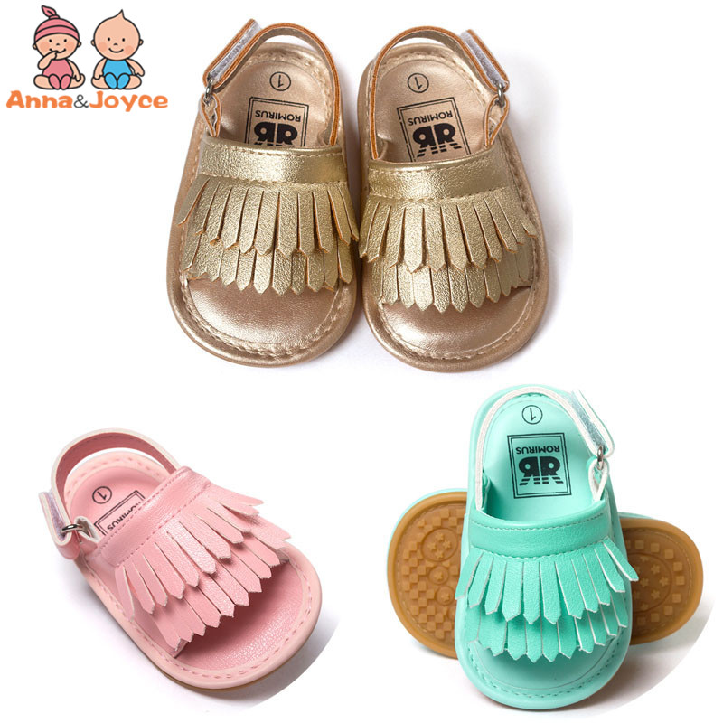 1pair Baby Sandals New Summer Fashion Tassel Baby Shoes Soft Bottom Shoes And Breathable Comfort Colorful
