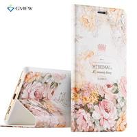 Luxury PU Leather 3D Relief Printing Flip Cover Case For Huawei Honor 6X With Stand Phone