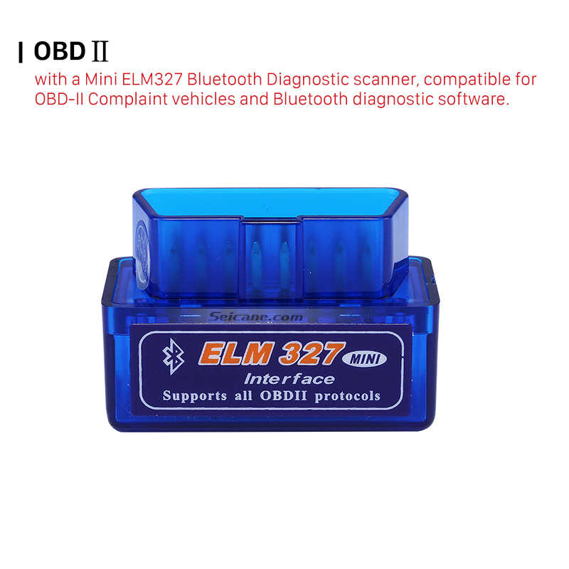 Seicane Super Mini V1.5 ELM327 OBD2 Bluetooth Interface Auto Car Scanner Diagnostic Tool for VW Chrysler Ford Mazada Nissan