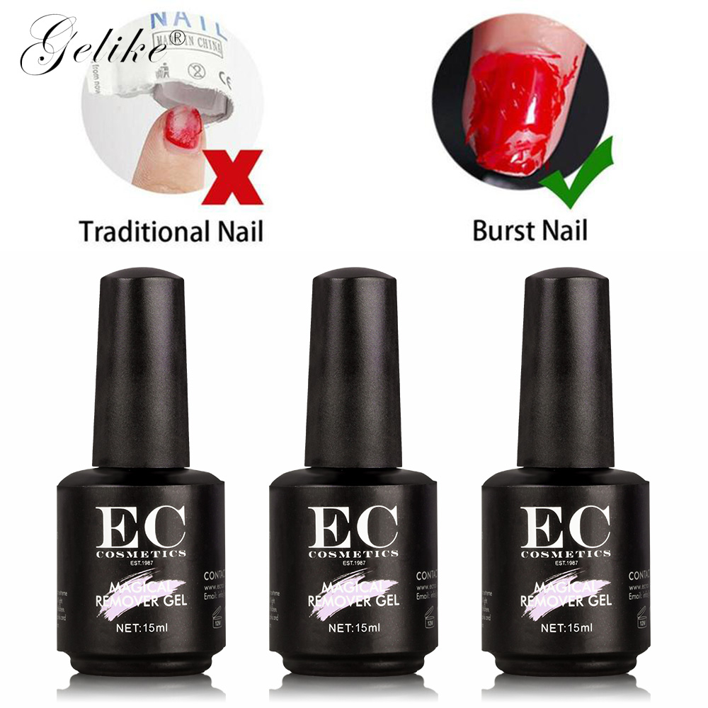 Gelike 10ML Burst Magic UV LED Removal Gel Soak Off Nail Polish Gel Nail Art Primer Acrylic Clean Degreaser in Nail Polish Remover from Beauty Health