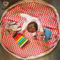 KAMIIMI 3 Color Stripe Style Blanket Baby Kids Canvas Game Playing Blanketes Cotton Children Play Rug Toy 140cm I057