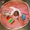 KAMIIMI 3 da Listra Da Cor Estilo Cobertor Jogo Do Bebê Crianças Lona Jogando Blanketes Crianças de Algodão Tapete de Jogo Toy 140 cm I057