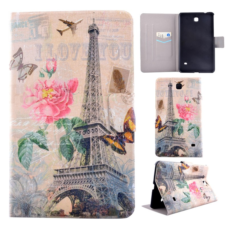 For Samsung Galaxy Tab 4 7 0 SM-T230NU T231SM-T235 T237 T230 Cover Android  PC PU Leather Flip Folio Stand For Samsung T230 Case