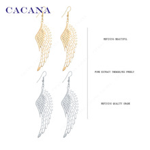 CACANA Earrings  Dangle Long Earrings With Top Quality Big Wing For Women Bijouterie Hot Sale No.A27